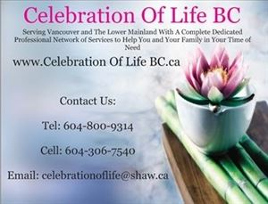 Celebration Of Life BC Vancouver
