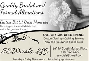 SEWcials, LLC - Bridal Alterations