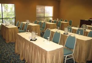 Galaxy Conference Center, Hampton Inn Cocoa Beach/Cape Canaveral, Cocoa Beach — We offer our own catering department, audio visual equipment and meeting space for reunions, retreats and corporate meetings