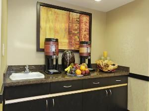 Executive Meeting Room, Hampton Inn & Suites Herndon-Reston, Herndon — Built in bar is perfect for snacks or beverages.