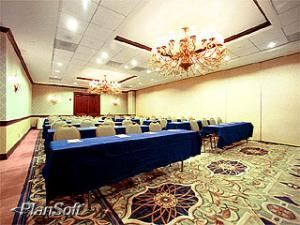 Pan Am Ballroom Section 4, Sheraton Miami Airport Hotel & Executive Meeting Center, Miami — The Gateway Ballroom-4 measures around 1,000 square feet (93 square meters) and feature 11-foot (3.4 meter) ceiling heights. Arranged in a classroom fashion, seating is available for 70 guests. To enhance your presentation, Wyndham offers full audiovisual equipment services as well as the technical expertise of on-site professionals.