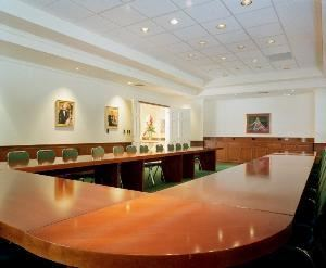 The Boardroom, Josephine S Leiser Opera Center, Fort Lauderdale — Business groups up to 50 people fit comfortably in our wood paneled boardroom located on the Leiser Center's first floor. Arrange the tables any way you prefer to suit your next meeting's needs.