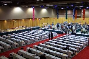 North Hall & South Hall, Sharonville Convention Center, Cincinnati — Exhibit Hall Classroom Set with 3 Chairs/Table.