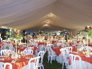 Tent Pad, Shrine Auditorium of Orlando, Orlando — 40 x 120 Gable Tent Available for your Party available from our Prefered Vendor Rentaland. Ask us about our party packages!
