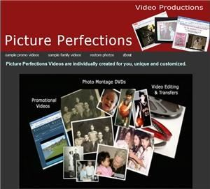 Picture Perfections, Stamford — Perfections Videos are individually created for you, unique and customized.  We produce videos and DVDs for small businesses and for life celebrations. For families, we customize photo montage DVDs and life stories that beautifully combine old & new photos into keepsake DVDs with music, captions, home movies, video interviews and more. Expert transfer of video to DVD, photo scanning and photo restoring. Free photo restorations when included in a photo montage. 