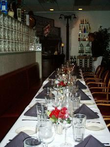 Augustino's Italian Restaurant, Indianapolis — DINING ROOM SET FOR A REHEARSAL DINNER