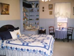 Hotel Nichols, South Haven — The Blue Room at Hotel Nichols. Pics of all rooms and apartments available on our website,