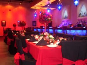 Main Room, Visani Restaurant And Banquet Hall, Punta Gorda — Here is a picture of a recent wedding catered at Visani. The building for Visani is designed to look like a castle. Now be honest brides, how many girls always wanted to get married in a castle? Here is your chance.