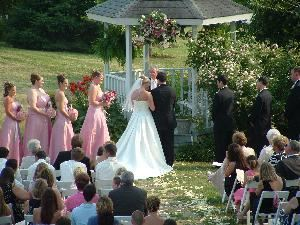 Outside Wedding Site, Blue Mountain Mist Country Inn, Sevierville — Wedding in front of Gazebo