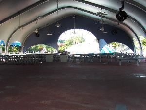 Lazy River Pavilion, Wet 'n Wild, Orlando — Our Lazy River Pavilion is located in the center of our park, in front of Bubble Up and the Lazy River. The pavilion seats up to 400 guests, and comes equipped with a sound system/mic and ceiling fans.
