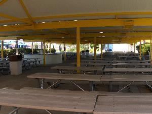 Storm Pavilion, Wet 'n Wild, Orlando — Located in the front of the park, this covered pavilion seats up to 550 guests. Microphone and sound system available.