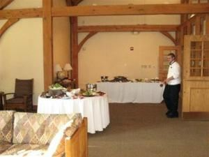 Hearth Room, Federated Church Family Life Center, Chagrin Falls — Hearth Room with appetizers.