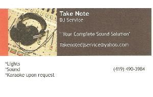Take Note Dj Service