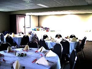 Lower Quad, Our Lady of Perpetual Help Parish Center, Aurora — Space for up to 75 guests.  Perfect for birthday or anniversary party, bridal or baby shower, baptism or First Communion party, and business or social meetings.