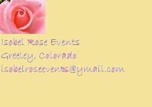 Isobel Rose Events