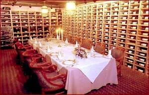 The Wine Cellar, The Broker Restaurant, Denver — The Wine Cellar is located underneath the subvault, 35 feet below ground. Originally the cash vault for the Denver National Bank,it will hold up to 24 guests on one custom built table, set at tasting level. It is simply the most popular entertaining room we have.
