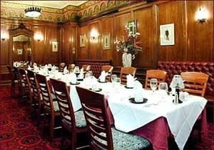 The Board Room, The Broker Restaurant, Denver — The Boardroom is the most formal choice for executive meetings and dinners. This room will hold up to 20 guests.