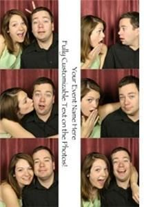 Snap Happy Photo Booths, Murfreesboro — This is our photo layout for our popular guest book option! The photo is cut down the middle, and half goes with the guest, while the other half is glued in the guest book next to the guests well wishes!