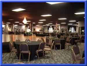 Blue Bubble Ballroom, San Antonio — The Carroll Grand Ballroom has a 3800 sq. foot dance floor,