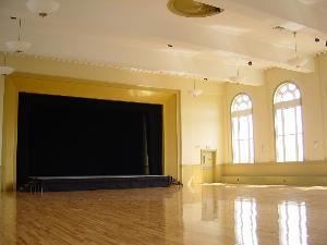 Ballroom/Performance Space, Hibernian Hall, Boston — Hibernian Hall's ballroom/performance space can accomodate a wide variety of events:  theatrical/dance performance, concert, film screening, wedding reception, tradeshow, fashion show, corporate meeting, fundraiser, and more...
