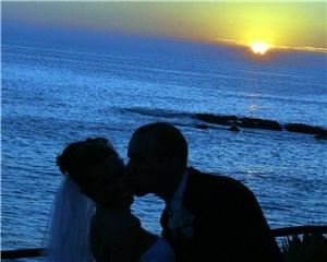 A Mirisciotti Photography, Costa Mesa  Our first sunset kiss as Mister and Misses.