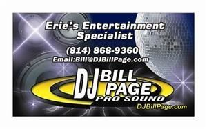 Erie DJ Bill Page Wedding DJ in Erie, PA, Erie, Pennsylvania, (PA)