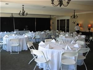 Carolina Room, Quality Inn & Suites, Santee — View of one section of the Carolina Room set up for a wedding reception.