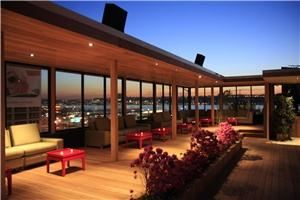 Rooftop Garden Lounge, Hudson Terrace, New York