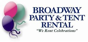 Broadway Party &amp; Tent Rental, Minneapolis  When planning a Party, Open House, Meeting/Convention, Carnival, Reunion, Picnic or Wedding, call us! We rent BBQ Grills, Pig Roasters, Inflatables(MoonWalks), Tables, Chairs, Linen, Multi Media LCD Projectors, Sound Equipment, Glassware, China, Food Service Equipment, Candelabra &amp; Wedding Arches, Tents &amp; Canopies (large &amp; small), Recreational &amp; Carnival Games, Karaoke, Helium Tanks, Concession, Portable Bars, Coffee &amp; Smoothie Makers, Champagne Fountains, Exhibit Boothing, Dance Floor, Staging, Bleachers, Risers, Raffle Barrels, Coat Racks, Rollaway Beds, Highchairs &amp; MORE! Delivery &amp; Setup available too! &quot;We Rent Celebrations!&quot;