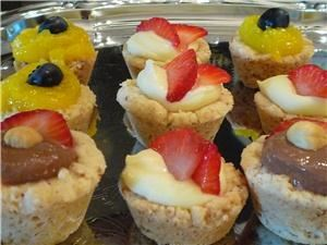 Bliss Fine Foods, Closter — Scrumptious gluten and dairy free tartlets filled with variety of mousse fillings (key lime with blueberry, vanilla and strawberry, chocolate hazelnut cream).