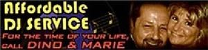 Affordable DJ Service, Warren  Affordable DJ Service is Dino and Marie Moceri. With a database of over 100,000 songs in all styles of music, we can fill every request to satisfy all age groups. More than just a DJ Service, we include a live performance during dinner, 6 hrs. of nonstop uninterrupted music, a great lighting system, top of the line equipment, two DJ&#39;s providing great interaction with the crowd, karaoke available w/3500 titles. Complete Packages with NO EXTRA FEES. 