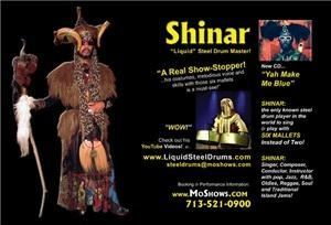 Shinar Liquid Steel Drums (Solo & Band)
