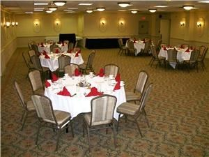 Wellington, RAMADA Elyria, Elyria — The Wellington Room is multi-functional.  Perfect for Weddings under 120 guests and will host a meeting for up to 150.