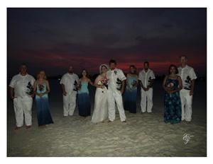Ellenburg Photography, Creola — Sunset Beach Wedding