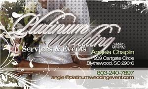 Platinum Weddings & Event Services, Blythewood — You make the decisions we do the work