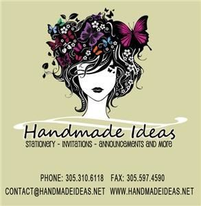 Handmade Ideas, Miami — All the cards are uniquely design and handmade. Details and quality will impress you and  your guests.