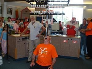 balanceking entertainment, Amherst — balancing 56 golfballs for one minute a world record