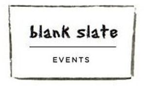 Blank Slate Events, New York — Company Logo- Blank Slate Events