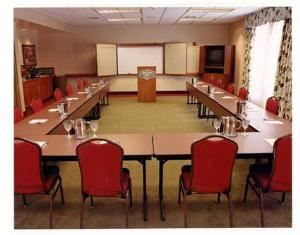 Hudson Room A & B, Hampton Inn Middletown, Middletown — Our Hudson A & B Meeting Room is one large room with a wall that can separate it into two smaller rooms so they can be sold separately. The full room seats up to 60 people theater style.