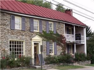 Canal House Gardens, Harpers Ferry — Charming garden setting outside 1820s home in historic town of Harpers Ferry. Location is perfect for those who want to make a weekend event out of their wedding or reunion. Wonderful towering trees and views of mountains and historic homes. Use off-site caterers or self cater.