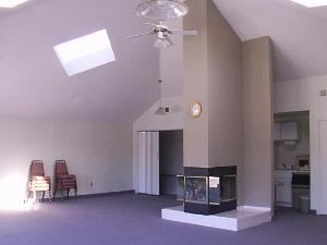 Conference Center, Lake Doniphan Conference & Retreat Center, Excelsior Springs — This free-standing room features skylights and patio doors and provides meeting space for up to 40 people. Includes a fireplace and kitchenette