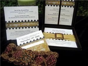 Bridal Divas Ink- Invitations, Websites and Slideshows, Cincinnati — Silk Box Traditional Custom Wedding Invitations. Invitation Name: Grand Antiquity shown with Silk Box. BridaDivasInk,com, 513.748.0235