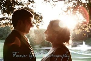 Forever Young Photography LLC - Royal Oak, Royal Oak — Bride and Groom, Sun streaming through, lens flare