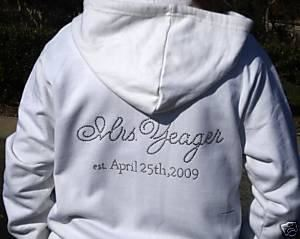 Zaza Collections, LLC, Ladera Ranch — Personalized Bride Zip Hoodie