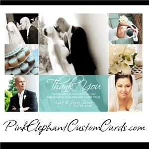 Pink Elephant Custom Photo Cards