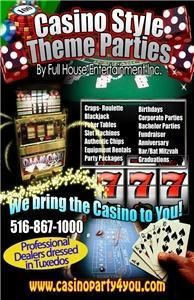 Casino Parties By Full House Entertainment Inc