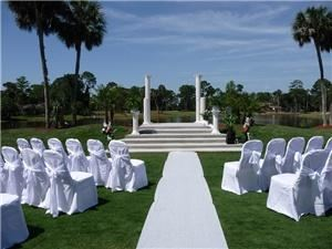 Club at Pelican Bay, Daytona Beach — Outdoor Wedding Ceremony site at the Club at Pelican Bay.