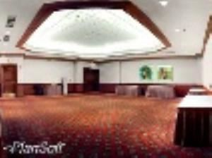Conference Center State Boardroom 4, Sheraton Dallas Hotel, Dallas — State Rooms 1 and 2 each cover 1,066 square feet (99 square meters) and accommodate 95 guests in a classroom setting.