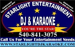 Starlight Entertainment DJ & Karaoke, Fredericksburg