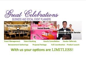 GREAT CELEBRATIONS Business and Social Event Planners